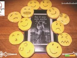 MANGIA CIO' CHE LEGGI # 64: biscotti emoticon ispirati da Sei il mio sole anche di notte di Amy Harmon