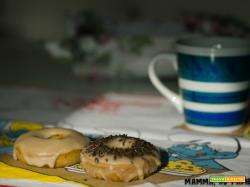 Donuts con glassa allo sciroppo d'acero