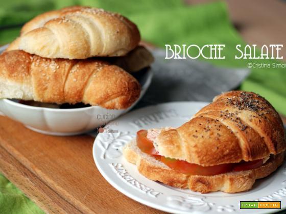 Brioche salate per sandwich