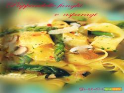 Pasta Funghi E Asparagi
