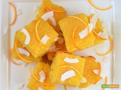 Torta di semolino con cocco e marmellata di arance