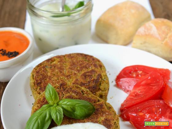 Burgers di azuki verdi al basilico (veg)