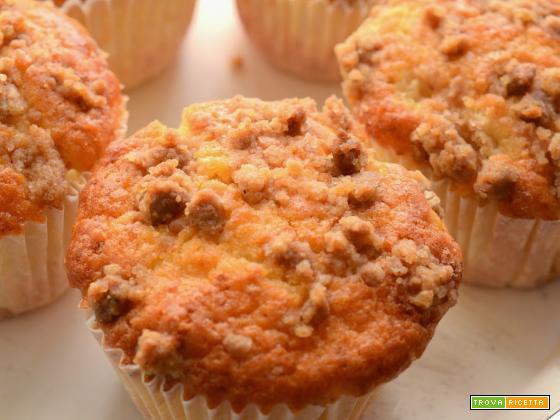 Muffins alle pere e zenzero con briciole di speculoos