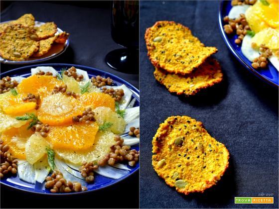 Insalata di agrumi con cialde di cous cous ai semi