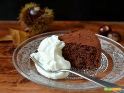 Torta di castagne e cioccolato al rum (senza farina)