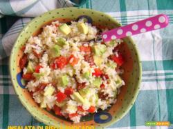 Insalata di riso e avocado