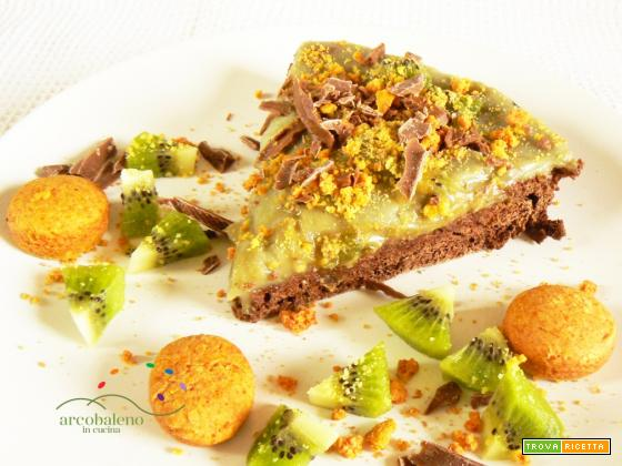 Torta vegana con pasta frolla al Cacao e crema a base di Té Matcha!