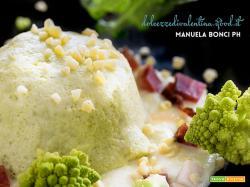 Flan di broccolo romano e fonduta