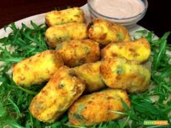 Crocchette di patate con rucola e olive