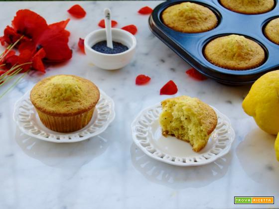 Lemon Muffins ai semi di papavero