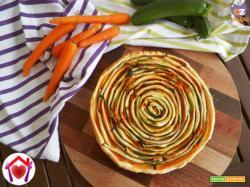 Torta a spirale con zucchine e carote