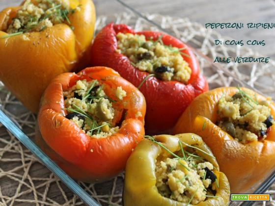 Peperoni ripieni di Cous Cous alle verdure