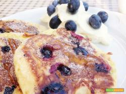 Blueberry Pancakes, Yogurt Greco e Miele