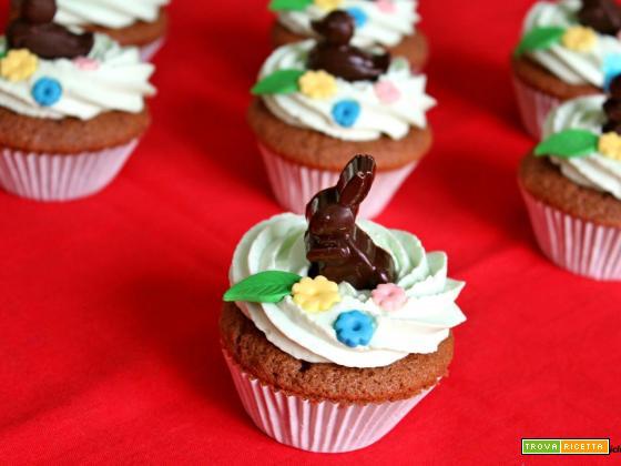 Cupcake Primaverile con cioccolato e crema al mascarpone