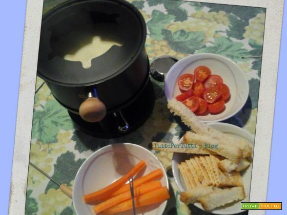 FONDUE DI FORMAGGIO (senza uova) A MODO MIO