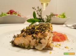 Filetti di salmone alle tre erbe