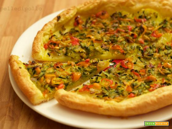 Torta salata con patate e verdure