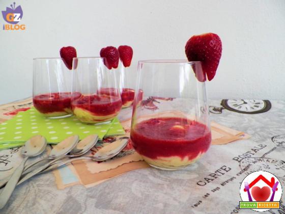 Dessert alle fragole e moscato