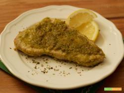 Pesce spada al forno gratinato ai pistacchi