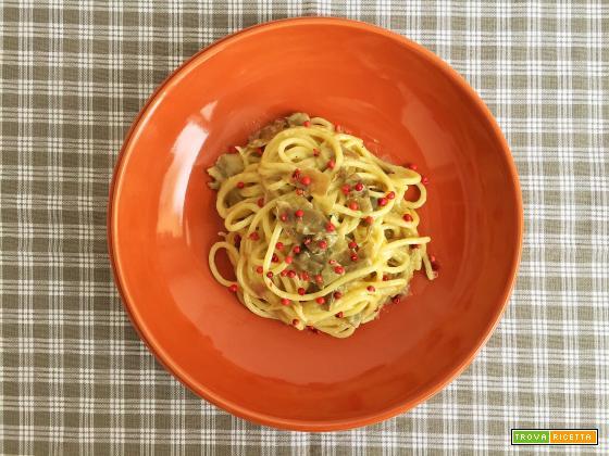 Spaghettoni cacio, pepe e carciofi