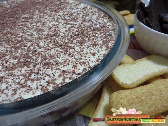 Tiramisu al cioccolato fondente