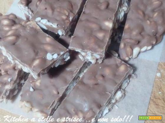 Barrette al Cioccolato e Riso Soffiato di Gloria KitchenUSA