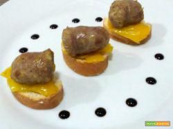 Bocconcini di salsiccia e peperoni