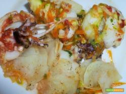 Seppioline al cartoccio con verdure