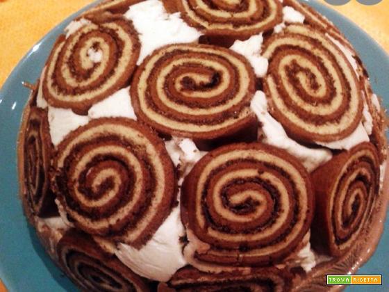 Torta gelato girella – Ricetta facile e veloce