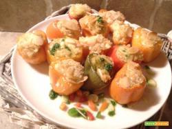 Baby peperoni ripieni vegani