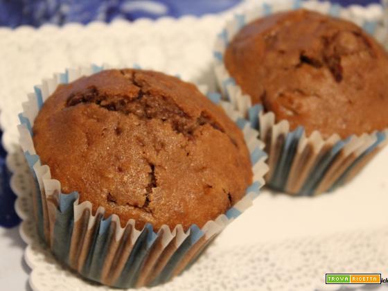 Muffin con ciobar, banane e cioccolato salato