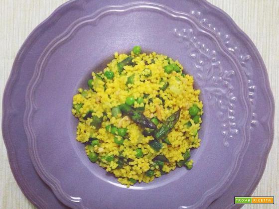Cous Cous verdure, arachidi e zafferano