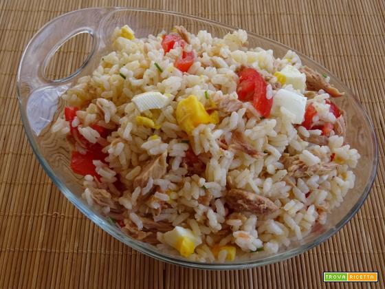 Insalata di riso tonno e uovo