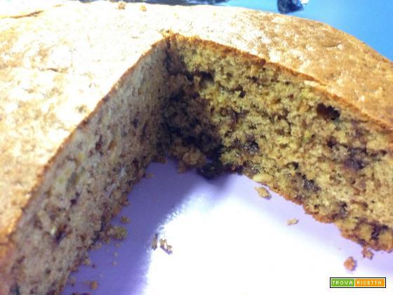 Con Bimby, Torta Semintegrale con Pistacchi e Cioccolato Senza Burro