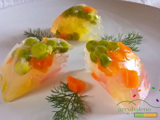 Aspic Vegano e Glutenfree al profumo di Limone  con verdurine di Primavera!