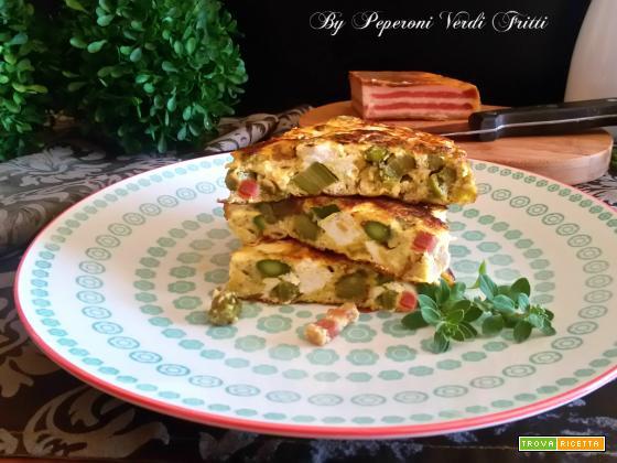 Frittata con asparagi pancetta e ricotta fresca