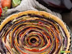 TORTA SALATA di VERDURE a SPIRALE | Vegan Senza Glutine
