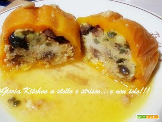 Peperoni Ripieni con Tonno, Olive e Spezie di Gloria KitchenUSA
