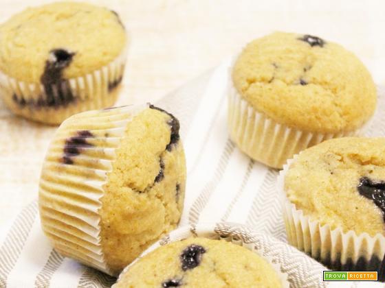 Muffin Light alla Ricotta e Marmellata di Mirtilli