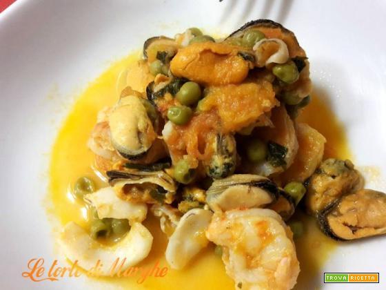Frutti di mare allo zafferano ricetta facile facile