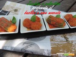 Zucchine e polpettine profumate al basilico e noce moscata