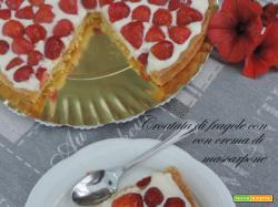 Crostata di fragole con crema di mascarpone