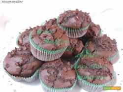 Mini muffin al doppio cioccolato fondente