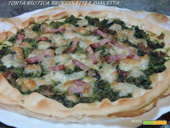 Torta rustica broccoletti e pancetta e tanto altro