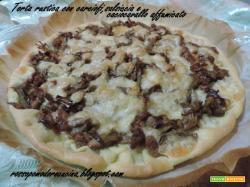 Torta rustica con carciofi, salsiccia e caciocavallo affumicato