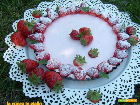 Crostata yogurt e fragole