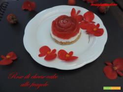 Rose di cheese cake alle fragole