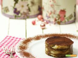 Festa della Mamma ... tortino al tiramisù con crema al gianduia senza uova e senza panna