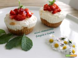 Mini cheesecake fragole e ricotta