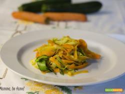 Tagliatelle di verdura saltate in padella